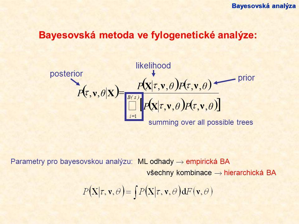 [ ] ( ) å Bayesovská metoda ve fylogenetické analýze: ν θ P , X t